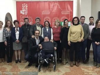 Integrantes de la candidatura socialista para las próximas elecciones municipales.