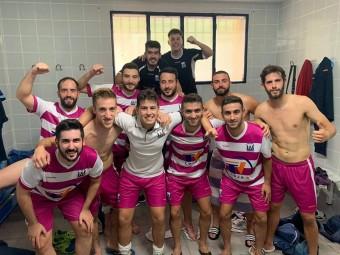 Los jugadores del Deportivo Loja celebran la victoria tras el partido del sábado