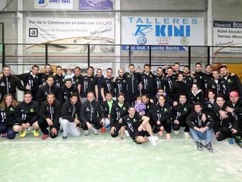 Integrantes de los diferentes equipos de Pádel Poniente que participan en las Series Nacionales