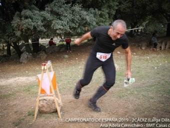 Antonio Jiménez en plena competición