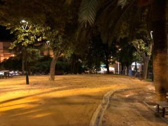 Las nuevas farolas han mejorado la iluminación del parque