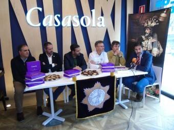 Presentación del dulce conmemorativo nazareno, en Casasola. FOTO: CALMA
