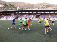 Los jugadores del Loja continúan con los entrenamientos en estos primeros días.