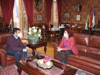 Reunión entre el alcalde y la portavoz del PSOE