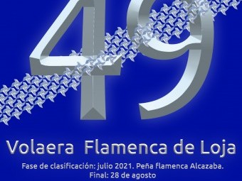 Cartel anuncia la fase clasificatoria de la 49ª Volaera Flamenca de Loja. FOTO: EL CORTO