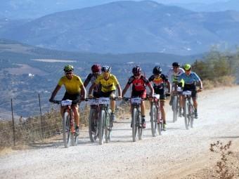 Un grupo de corredores en la última edición de la Media Maratón 'Sierra de Loja'. P.C.